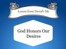 david's lessons_god honors
